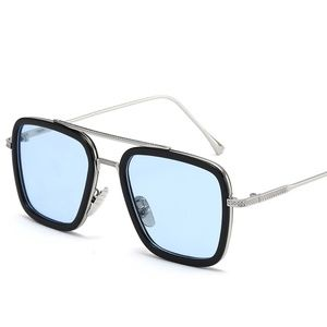 Tony Stark Style Square Aviation Sunglasses UV400